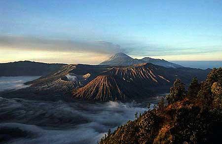 Sunrise over the Tengger caldera
