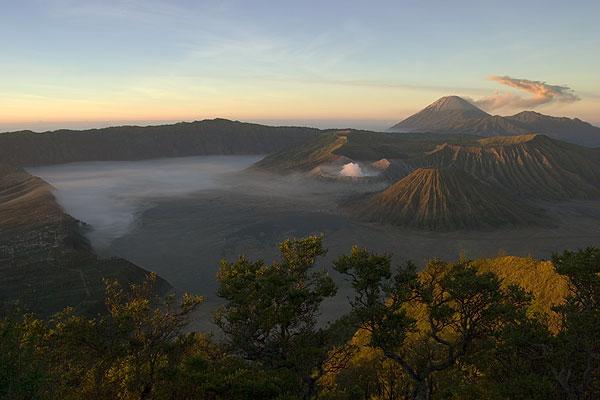 Sunrise from Panagjakan viewpoint overlooking the Tengger caldera