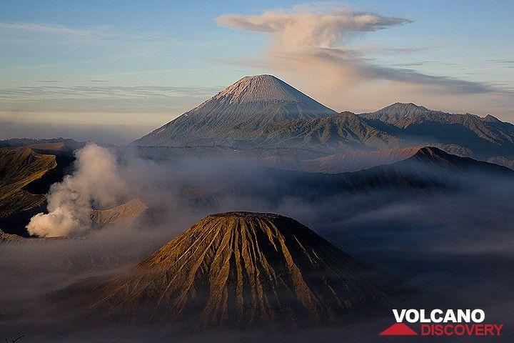 The Tengger caldera with Bromo, Batok and Semeru in background