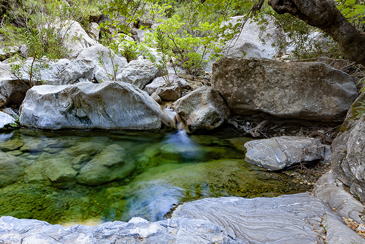 """The scenic gorge of """"Diavologefiro"""" near Troezen is great for photography and relaxation."""