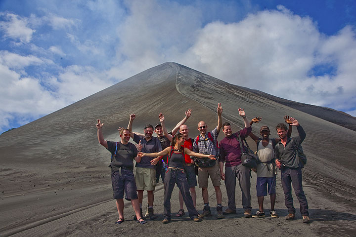 Group at Yasur volcano