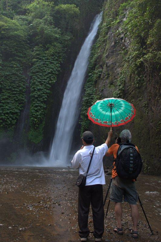 Den Wasserfall fotografieren