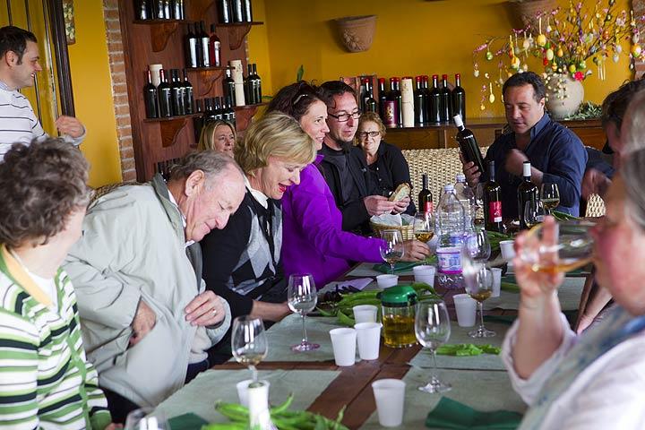 Verkostung von Weinen aus einem der vielen ausgezeichneten Weinberge in der Nähe des Vesuvs