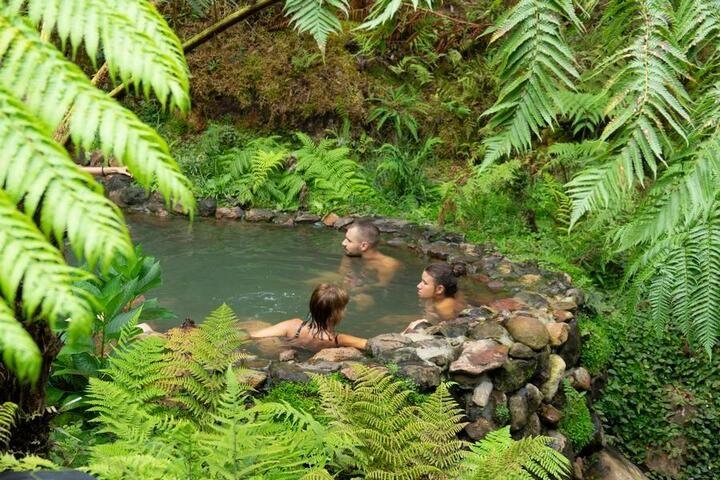 Hot springs of Caldeira Velha (Sao Miguel)