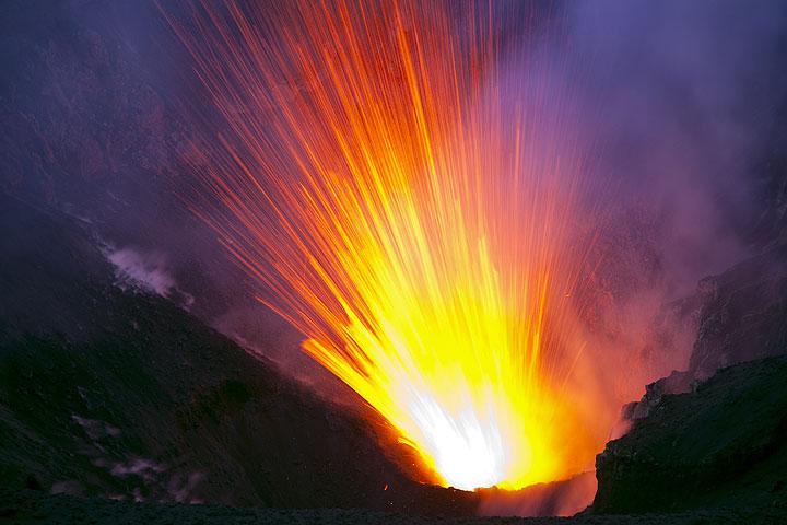 Strombolian eruption at Yasur