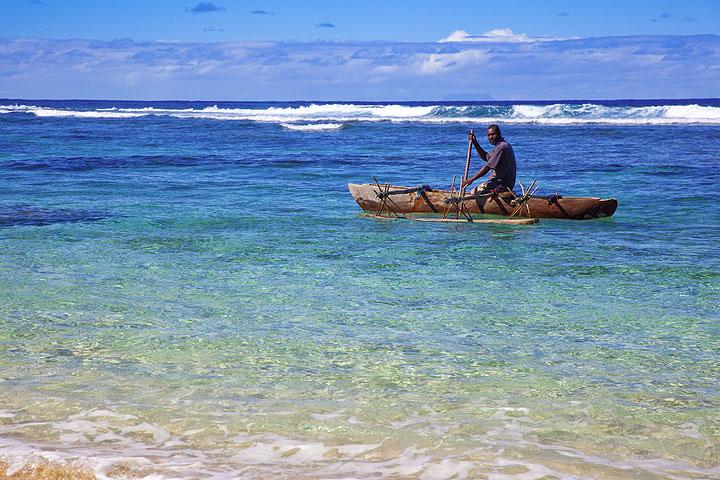Traditional canoe on Tanna Island (Vanuatu)