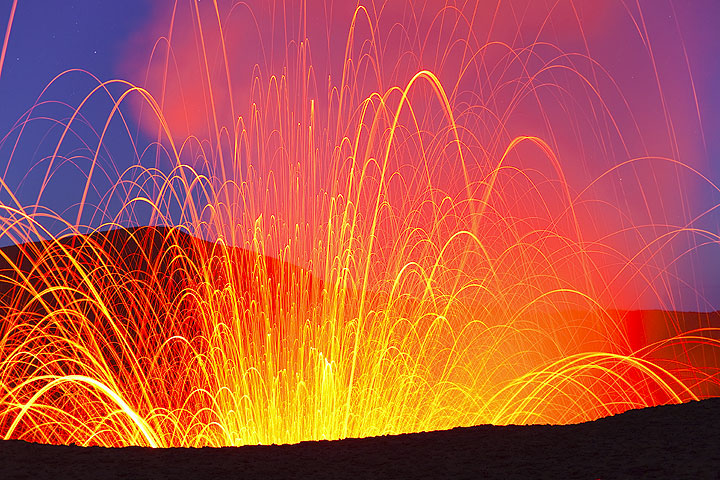 Strombolian activity at Yasur volcano
