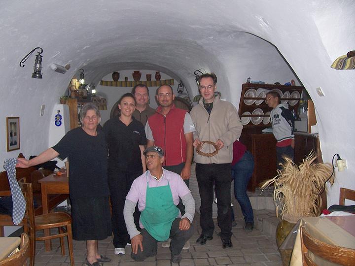 Le groupe avec des amis