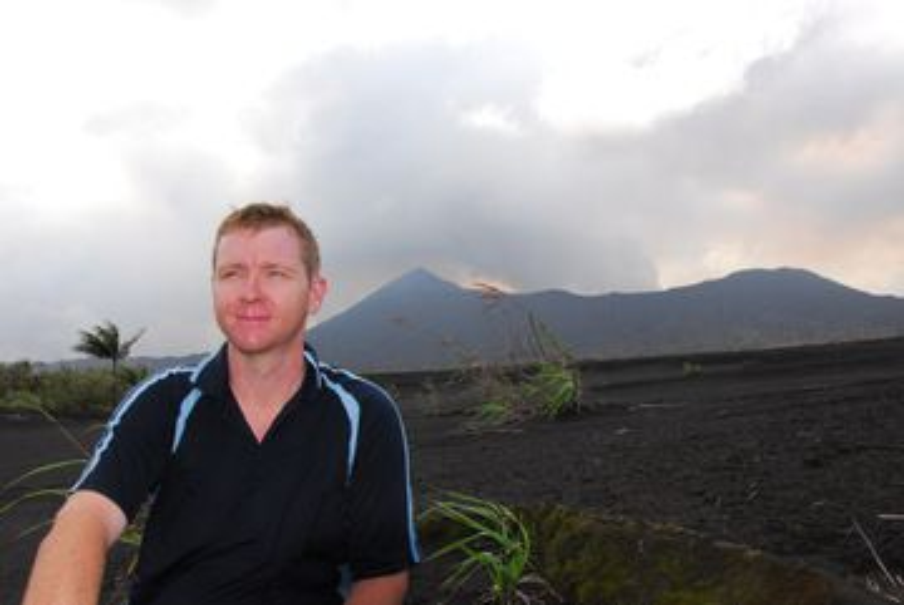 Tim at Benbow volcano (Ambrym, Vanuatu)