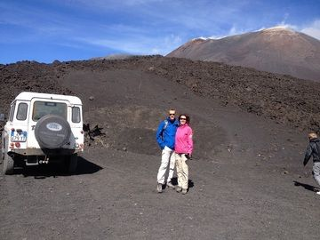 Starting the hike to Etna´s summit area (photo - Petra)