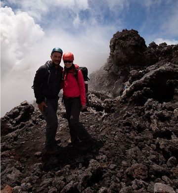 Michi and Royko on Mt Etna