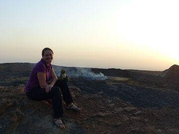 Ingrid's selfie at the lava lake
