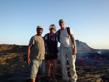 Our small group at the lava lake