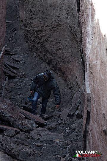 Walking on a lava channel