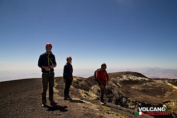 On the rim of Bocca Nuova Crater