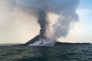 Erupting Krakatau