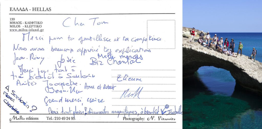 Customer feedback for the Milos-Tour in April 2012