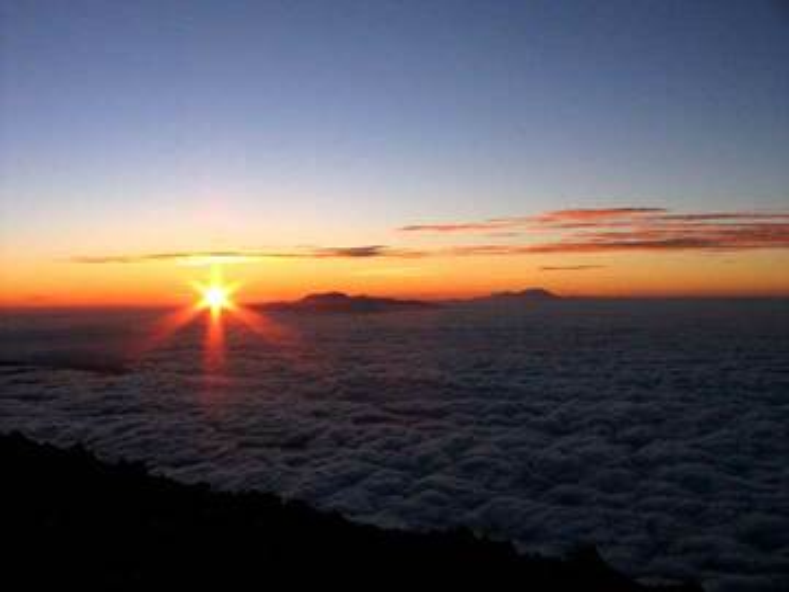 Sunrise from Semeru volcano