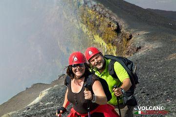Souvenir photo on the rim of Voragine Crater