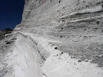 Base-Surge Ablagerungen auf Santorini (ca. 1613 v.Chr.)
