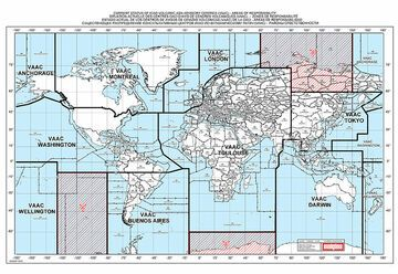 Coverage of the globe by the 9 VAAC.