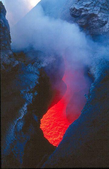 Skylight on Etna volcano (Italy)