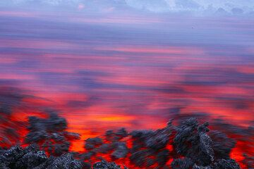 Lava flow on Etna (Italy)
