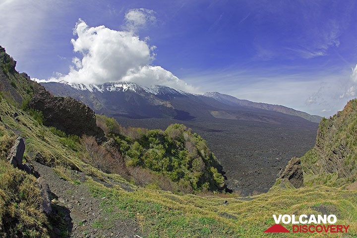 View over Etna's Valle del Bove