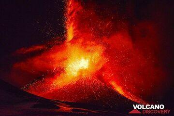 Violent eruption of Etna's New SE crater