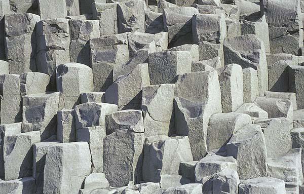 Basaltic columnar-jointed lava (Iceland)