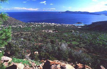 Methana aus den Bergen gesehen
