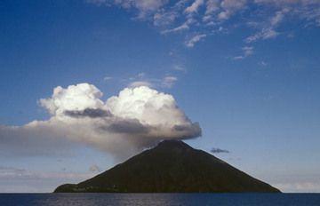Stratovolcan Stromboli, Iles éoliennes, Italie