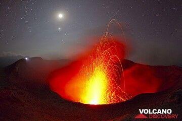 Strombolian eruption from Yasur volcano, Vanuatu