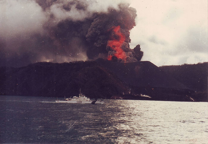 Eruption of Barren Island volcano in 1994
