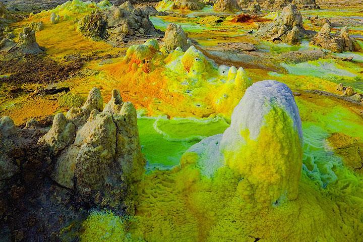 Bizarre landscape at Dallol volcano