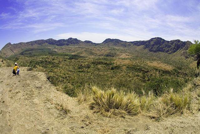 Fantale volcano's caldera