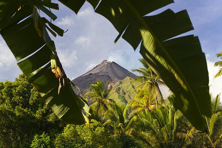 Karangetang volcano on Api Siau Island