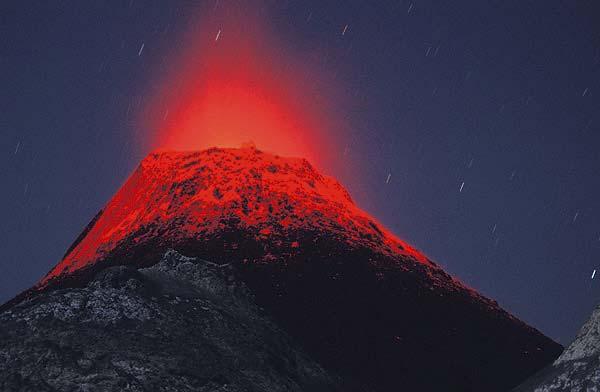 Erupting hornito at Lengai volcano