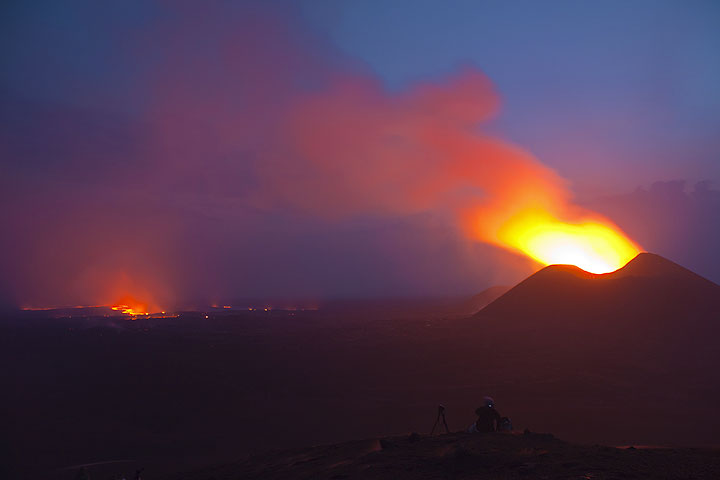 Eruption of Nyamuragira volcano from the Kimanura east vent in mid January 2012