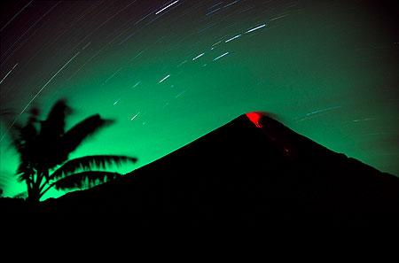 Night time mild eruptions from Semeru