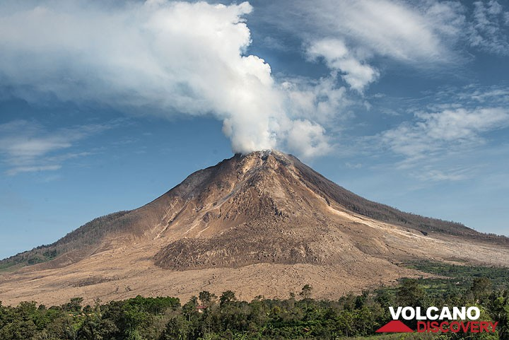 Sinabung volcano in July 2015