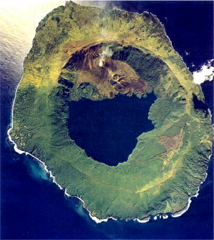 Aerial photo of Tofua (Tonga Ministry of Lands, Survey, and Natural Resources, 1990, published in Taylor and Ewart, 1997)