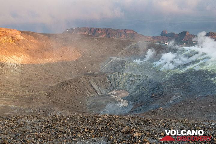 View of the crater of La Fossa volcano, Vulcano Island.